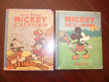 2 albums 1939 EO Mickey l'Africain +1933 EO Mickey fait du Camping -- Hachette