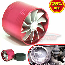 """For FORD 2.5""""-3.0"""" TURBO CHARGER AIR INTAKE TURBINE Gas Fuel Saver Fan RED"""