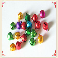 100X Christmas Jingle Bells Assort Colorful Iron Bead Pendant Jewelry Findings H