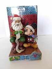 Jim Shore Disney Checking It Twice Mickey Mouse Santa 4008063 Christmas Figurine