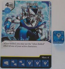 WARTH HOPE BURNS BRIGHT 133/142 War Of Light Dice Masters DC