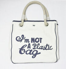 "Authentic Original Anya Hindmarch ""I'm not a Plastic BAG"" Tote Bag  Navy / Blue"