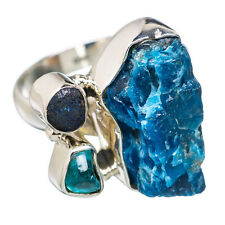 Apatite, Azurite 925 Sterling Silver Ring Size 8 Ana Co Jewelry R804018F