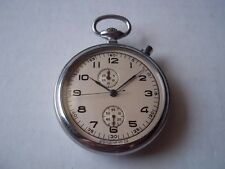 Russian windup pocketwatch chronograph. 1956. Pre-owned.