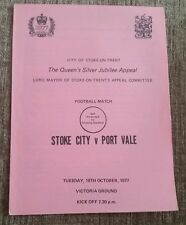 Stoke City v Port Vale Friendly Programme 18/10/77