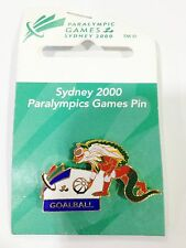 SYDNEY PARALYMPIC OLYMPIC GAMES 2000 MASCOT LIZZIE GOAL BALL PIN BADGE #480