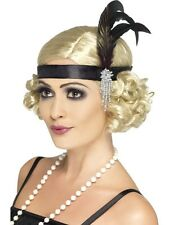 Ladies 20s Charleston Feather Headband 1920s Flapper  Moll Fancy Dress!