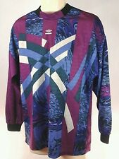 UMBRO Mens Goalie Goalkeeper Long Sleeve Shirt Soccer Futbol Medium  Made in USA