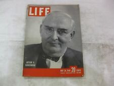 Life Magazine May 24th 1948 Arthur H Vandenberg Cover Published By Time    mg250