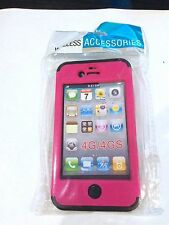 Apple iPhone 4G/4S Case Pink - Black