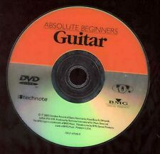 Absolute Beginners Guitar Instructional DVD Guide Play Chords Picking NO CASE