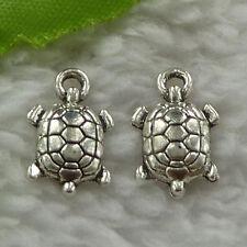 free ship 340 pcs tibet silver tortoise charms 15x9mm #3485