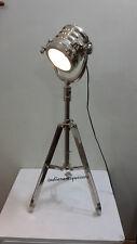 VINTAGE CLASSIC MINI SPOTLIGHT SEARCHLIGHT TABLE LAMP  TRIPOD FULL CHROME