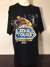 New Disneyland Star Tours Opening Day 2011 T-Shirt XL Launch Colection Wars NWT