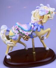 1989 Lenox Carousel Horse, Pretty in Pink Roses