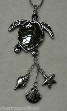 r SEA TURTLE CAR MIRROR CHARM JEWELRY REARVIEW ornament dangle gift