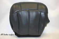 1999 2000 2001 2002 GMC Sierra Driver Bottom Leather Seat Cover Gray Graphite