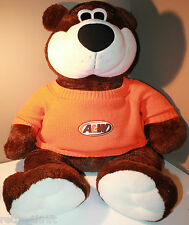 "36"" A+W Plush Bear Huge Restaurant Mascot with Orange Sweater"