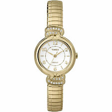 Timex TW2P61300, Women's Goldtone Expansion Watch, Crystals, TW2P613009J