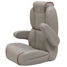 Premier Pontoon Boats Stone Cranberry Marine Captain Seat Helm Chair 780368