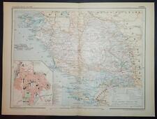 1902 impression antique carte en couleurs de Vendée La Roche-sur-Yon FRANCE carte française