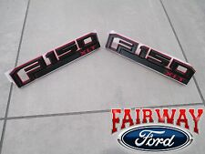 15 thru 16 F-150 OEM Ford Special Edition RED Fender Emblem Nameplate Set XLT