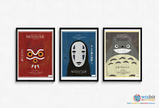 Studio Ghibli (Totoro, Mononoke, Spirited Away) Poster Set