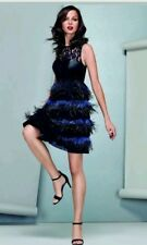 Stunning *COAST*Limited Edition,  Izzy Feather Dress , Black size 8 NEW WITH TAG