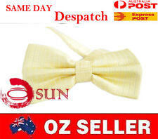 MEN BOWTIE TUXEDO BOW TIE Yellow Light Gold Wedding PARTY BALL HIGH Quality