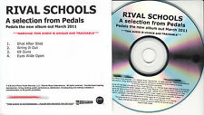 RIVAL SCHOOLS A Selection From Pedals UK 4-tk numbered/watermarked promo test CD