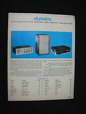 Vintage 1957 Dynaco Test Reports From Leading High Fidelity Publications Book