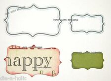 NEW•• GORGEOUS•• NESTING ORNATE  LABELS •• 2 DIES ••FITS CUTTLEBUG & SIZZIX
