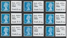 2010/15 G.B. 9 Different fine used Security Machins all identified and OFF paper