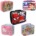 BRANDED 100% OFFICIAL CHARACTER KIDS INSULATED LUNCH BAG BOX BACK TO SCHOOL