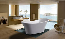 New Soaking Bathtub Acrylic White Pedestal Bath Tub Bathroom Shower