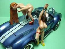 COBRA  GIRLS   EROTIK   UNBEMALTE  1/18   FIGUREN   MADE  BY   VROOM   80  MM
