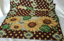 NEW SUNFLOWER TAPESTRY PLACEMAT SET OF 4 BY GOLD COAST