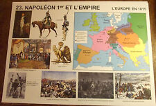 OBJET DE MÉTIER CARTE SCOLAIRE VINTAGE BONAPARTE;NAPOLEON 1 & L'EMPIRE