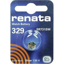 329 (SR731SW) Coin Battery Pack Renata 1.55V / for Watches Car Keys Torches