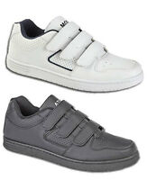 Mens Velcro Light Sports Casual Black White Trainers Shoes Size 6 7 8 9 10 11 12