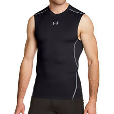 Under Armour Men's HG Armour Sleeveless Compression Shirt Black Size Large
