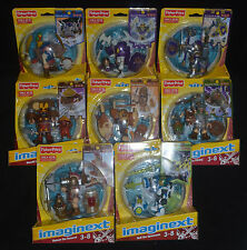 BATTLE ARENA Complete Set of 8 Imaginext Action Figures w Rare CLICHE PIRATE