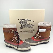 Burberry Windmere Khaki Ankle Duck Boot US 7 EU 37 Lace Up Rain Hiking Hiker