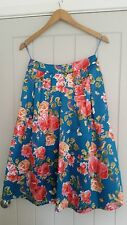Oasis bird & rose print midi skirt - size UK 8 - New without tags