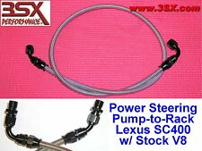 LEXUS SC400 Power Steering Hose SS Braided Line Kit SC400 w Stock V8 Motor