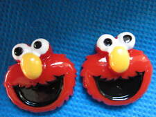 5 x ELMO FROM SESAME STREET 1 INCH FLAT BACK RESIN HEADBANDS BOWS