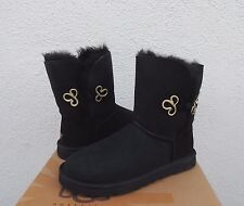 UGG BAILEY GOLD MARIKO BLACK SUEDE/ SHEEPSKIN BOOTS, US 6/ EUR 37  ~NIB