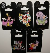 DISNEY DISNEYLAND MINNIE MOUSE 5 PIN SET JEWELED PRINCESS DAISY WORLD'S BEST MOM