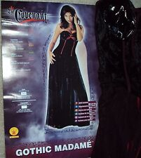 HALLOWEEN COSTUME COVENANT VAMPIRE GOTHIC MADAME PRIESTESS XS 2-6  HOT AND SEXY!
