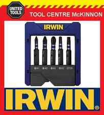 IRWIN IMPACT 5pce POWER INSERT BIT SET IN HOLDER – PH1, PH2 & PH3, SQ2 & HX5